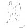 Disegno di Uomo e Donna da colorare