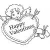 Disegno di Buon San Valentino da colorare