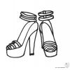 Disegno di Scarpe con Tacco da colorare