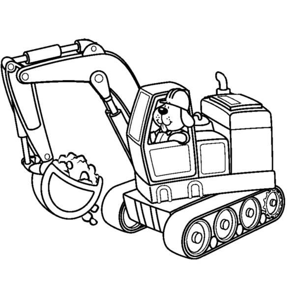 Disegni Da Colorare Per Bambini Escavatori.Disegno Di Scavatrice Meccanica Da Colorare Per Bambini