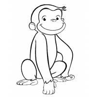 Disegno di Scimmietta George da colorare