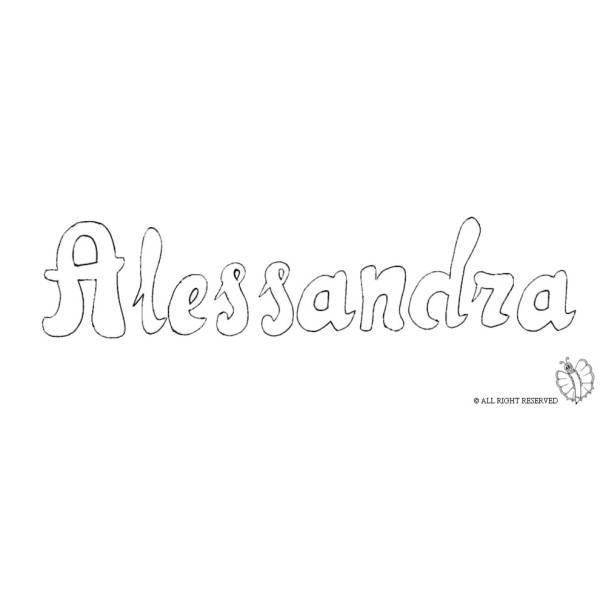 Disegno di Alessandra da colorare