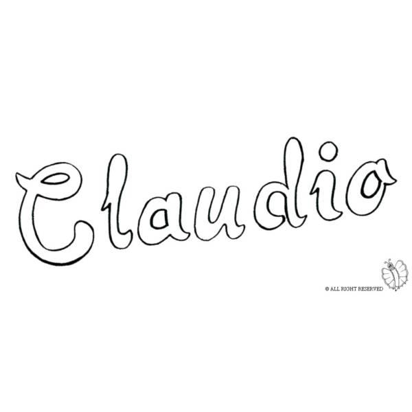 Disegno di Claudio da colorare