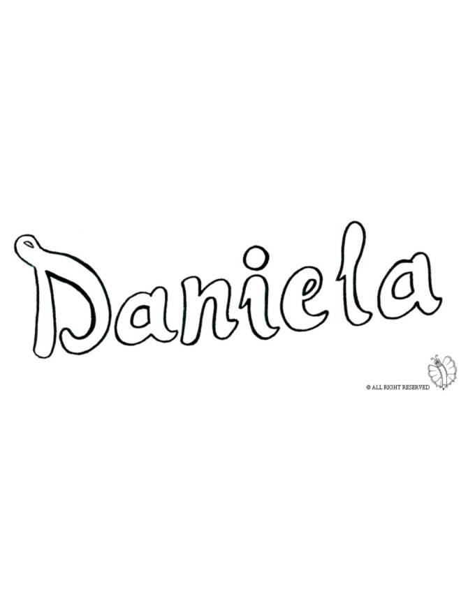 disegno di Daniela da colorare