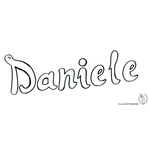 Disegno di Daniele da colorare