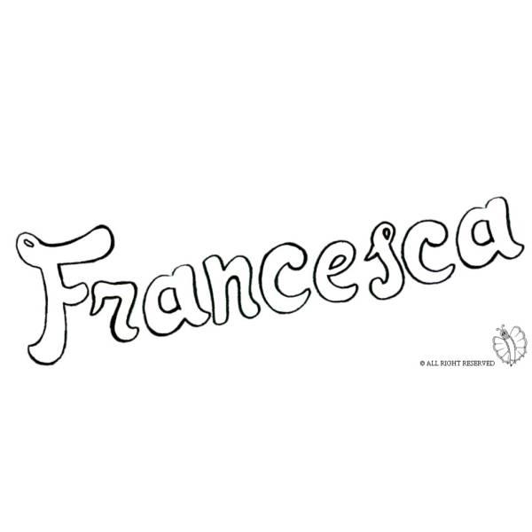 Disegno di Francesca da colorare
