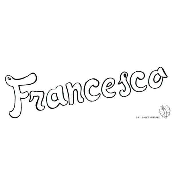 Disegno di Francesco da colorare