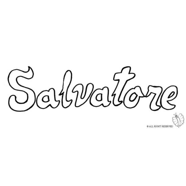 Disegno di Salvatore da colorare