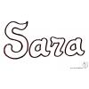 Disegno di Sara da colorare