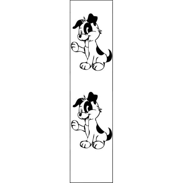 Disegno di Segnalibro Cagnolini da colorare