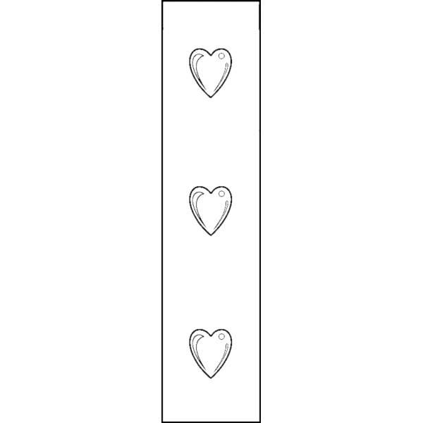 Disegno di Segnalibro Cuoricini da colorare