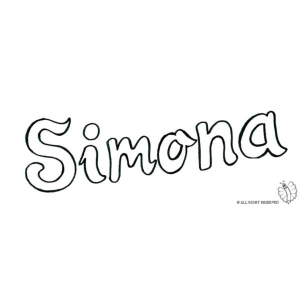 Disegno di Simona da colorare