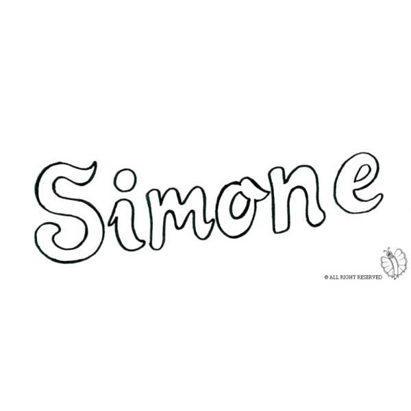 Disegno di Simone da colorare