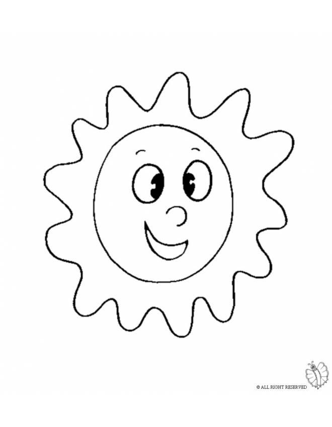 Disegno di sole da colorare per bambini for Sole disegno da colorare