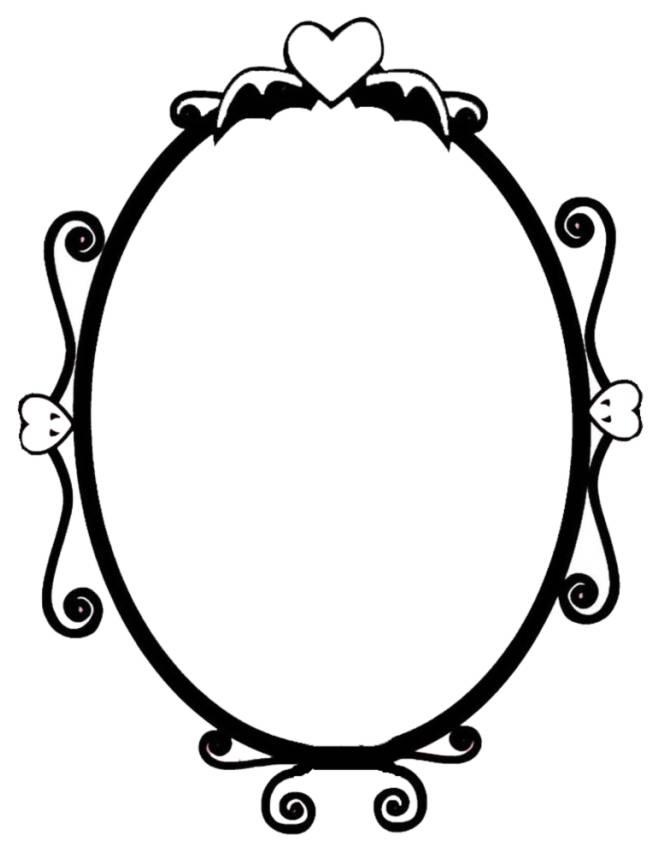 Disegno di specchio magico da colorare per bambini - Specchio di biancaneve ...