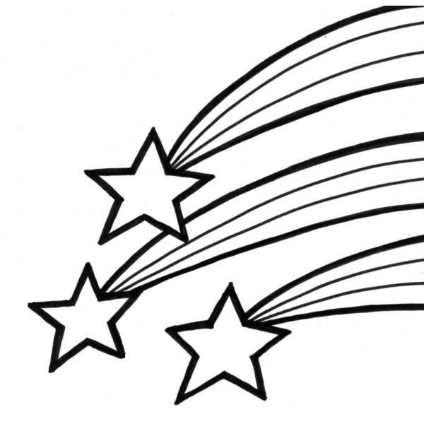 Disegno di stelle cadenti da colorare per bambini for Stelle da stampare