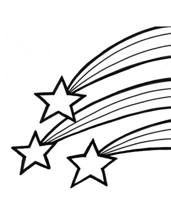 Disegno di stelle cadenti da colorare per bambini for Stelle da colorare per bambini