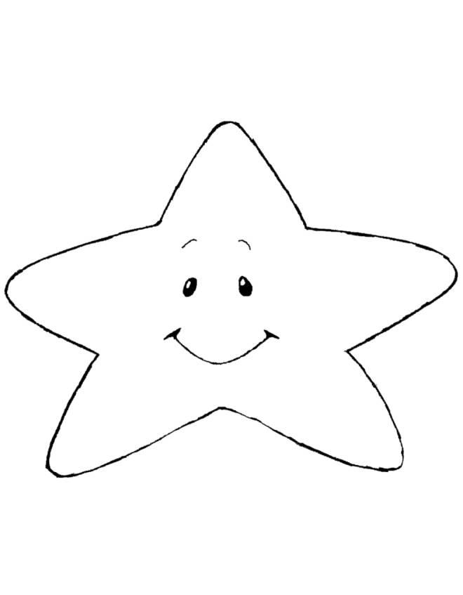 Disegno di stellina con sorriso da colorare per bambini for Sole disegno da colorare