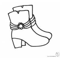 Disegno di Stivali da colorare