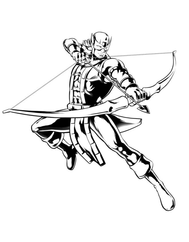 Disegno di hawkeye the avengers da colorare per bambini for Disegni da colorare supereroi
