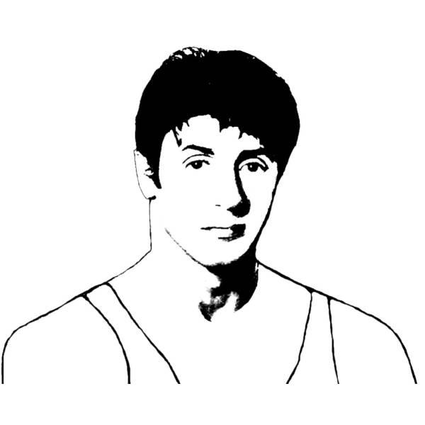 Disegno di Sylvester Stallone da colorare