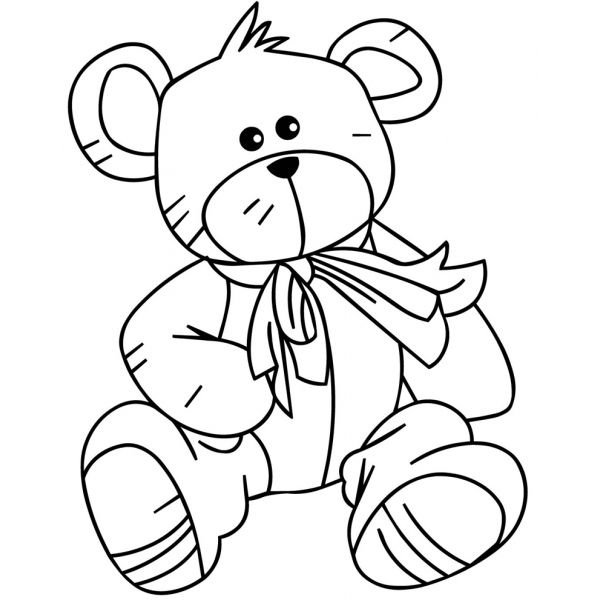Disegno di Teddy Bear da colorare