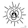disegno di Sole con Sorriso da colorare