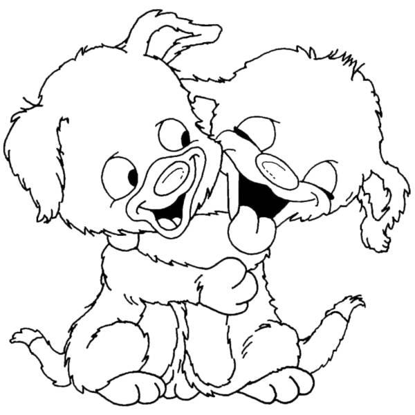 Disegno Di Teneri Cuccioli Da Colorare Per Bambini