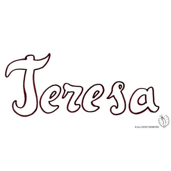 Disegno di Teresa da colorare