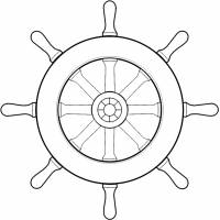 Disegno di Timone della Nave da colorare