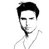 Disegno di Tom Cruise da colorare