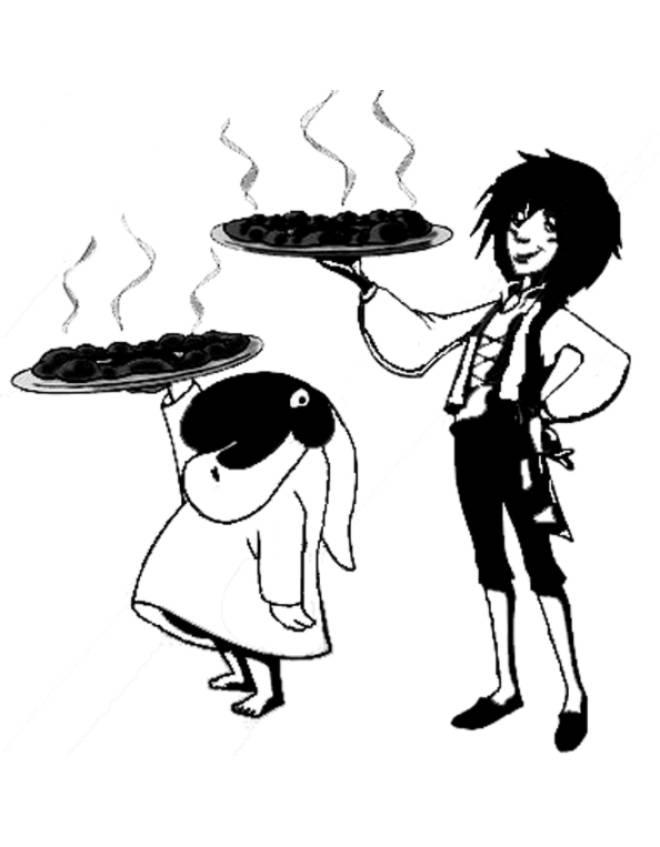 Disegno Di Toto Sapore E La Pizza Da Colorare Per Bambini Disegnidacolorareonline Com