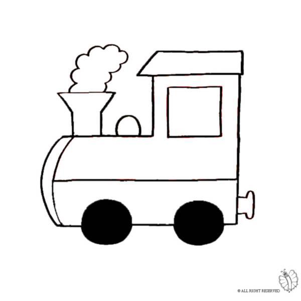 Disegno di Treno a Vapore da colorare
