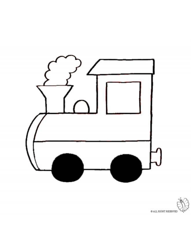 Disegno di treno a vapore da colorare per bambini - Immagini del treno per colorare ...