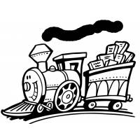 Disegno di Treno con Sorriso da colorare