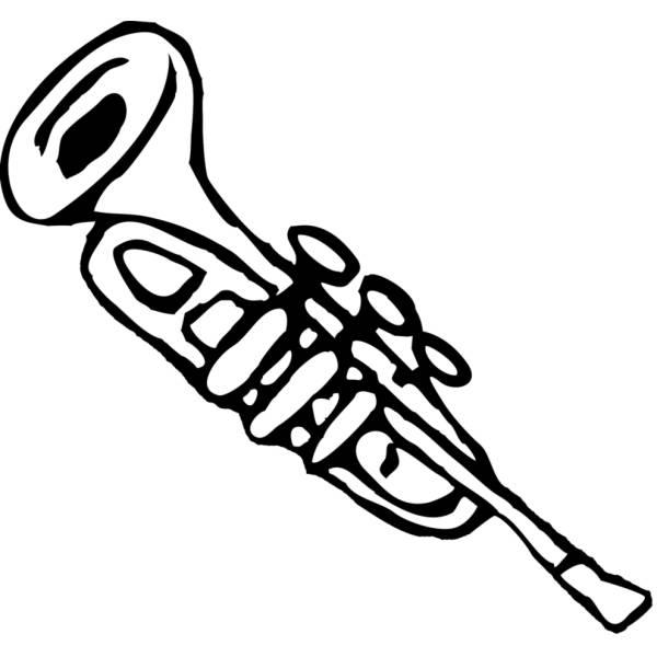 Disegno di Tromba da colorare