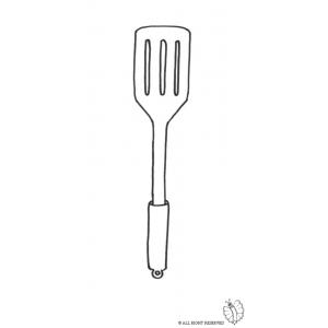 Disegno di utensile per cucinare da colorare per bambini for Cucinare per 300 persone