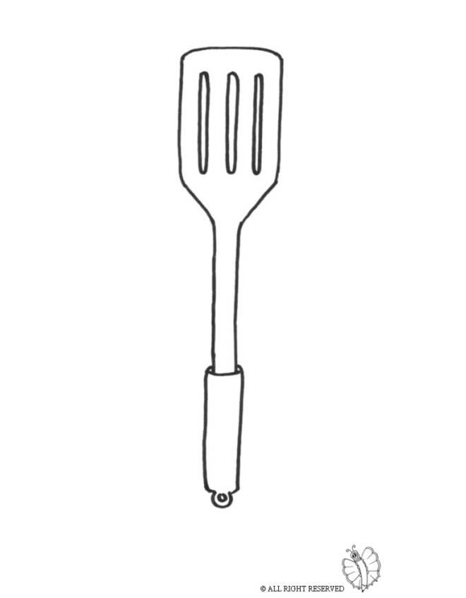 Disegno di utensile per cucinare da colorare per bambini for Disegni da colorare cucina