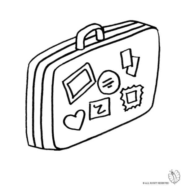 Disegno di Valigia da colorare