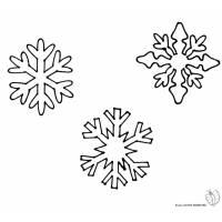 disegno di Fiocchi di Neve da colorare
