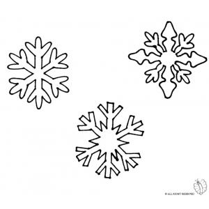 Disegno di fiocchi di neve da colorare per bambini gratis for Fiocco di neve da ritagliare