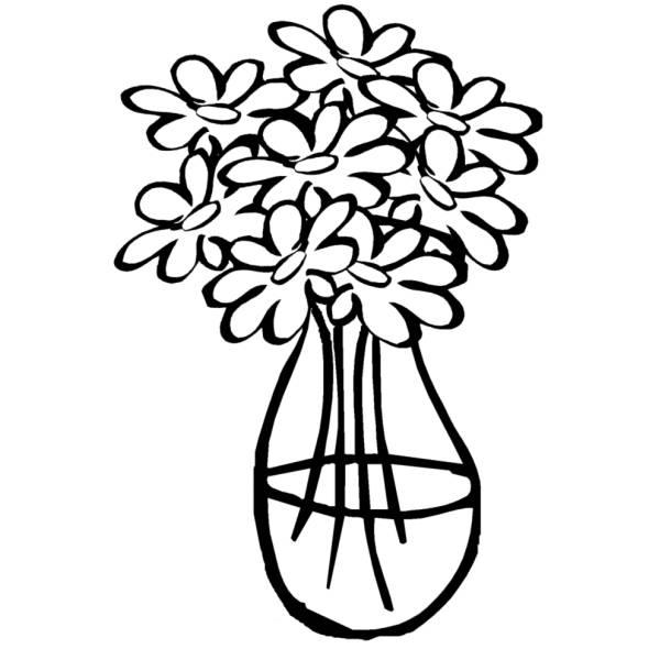 Disegno Di Vaso Con Acqua Da Colorare Per Bambini