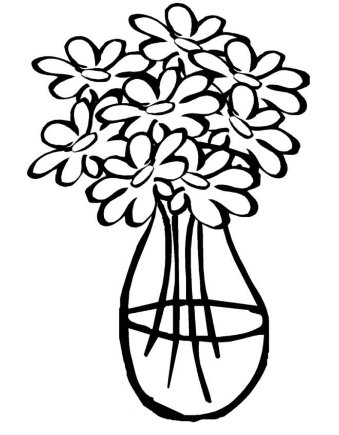 disegno di Vaso con Acqua da colorare