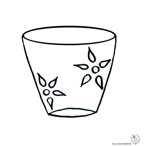 Disegno di vaso da colorare per bambini for Fiori da vaso