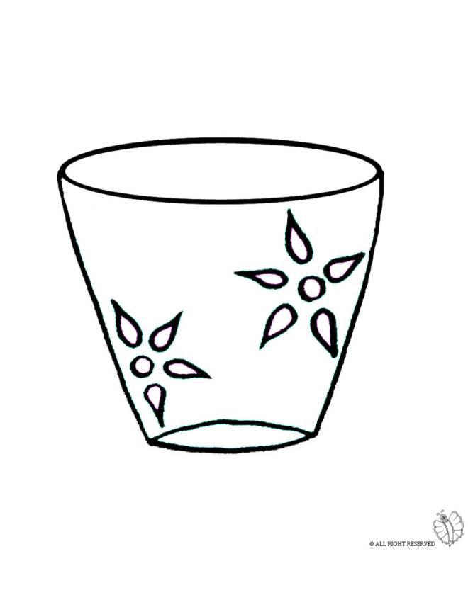 Disegno di Vaso da colorare per bambini ...