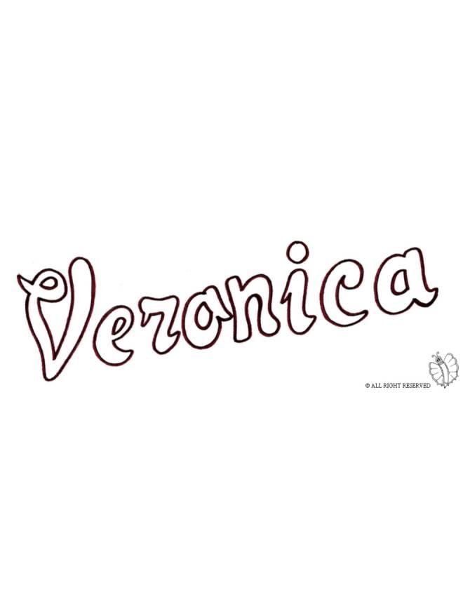 disegno di Veronica da colorare