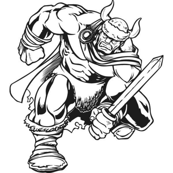 disegno di guerriero vichingo da colorare per bambini