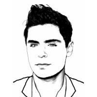 disegno di Zac Efron da colorare