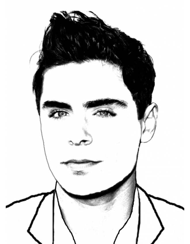 zac efron coloring pages print - photo #7