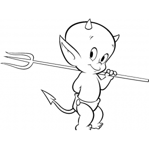 Disegno Da Colorare Diavolo Cat